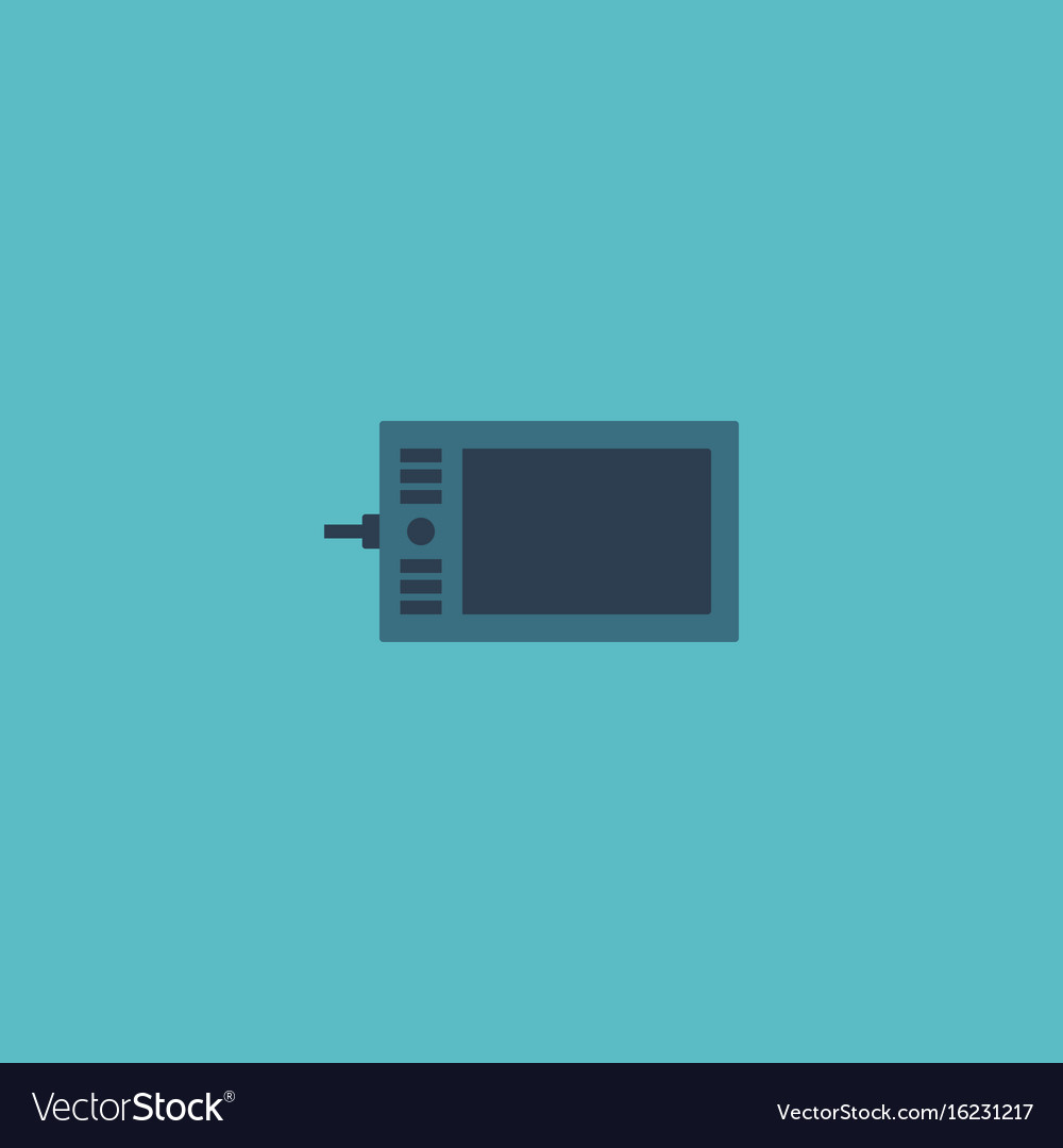 Flat icon graphic tablet element vector image