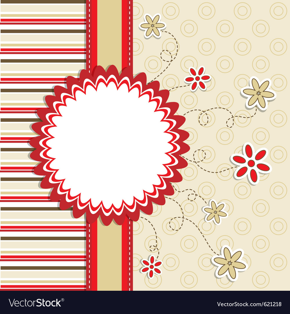 Greeting card template Royalty Free Vector Image VectorStock – Online Greeting Card Template