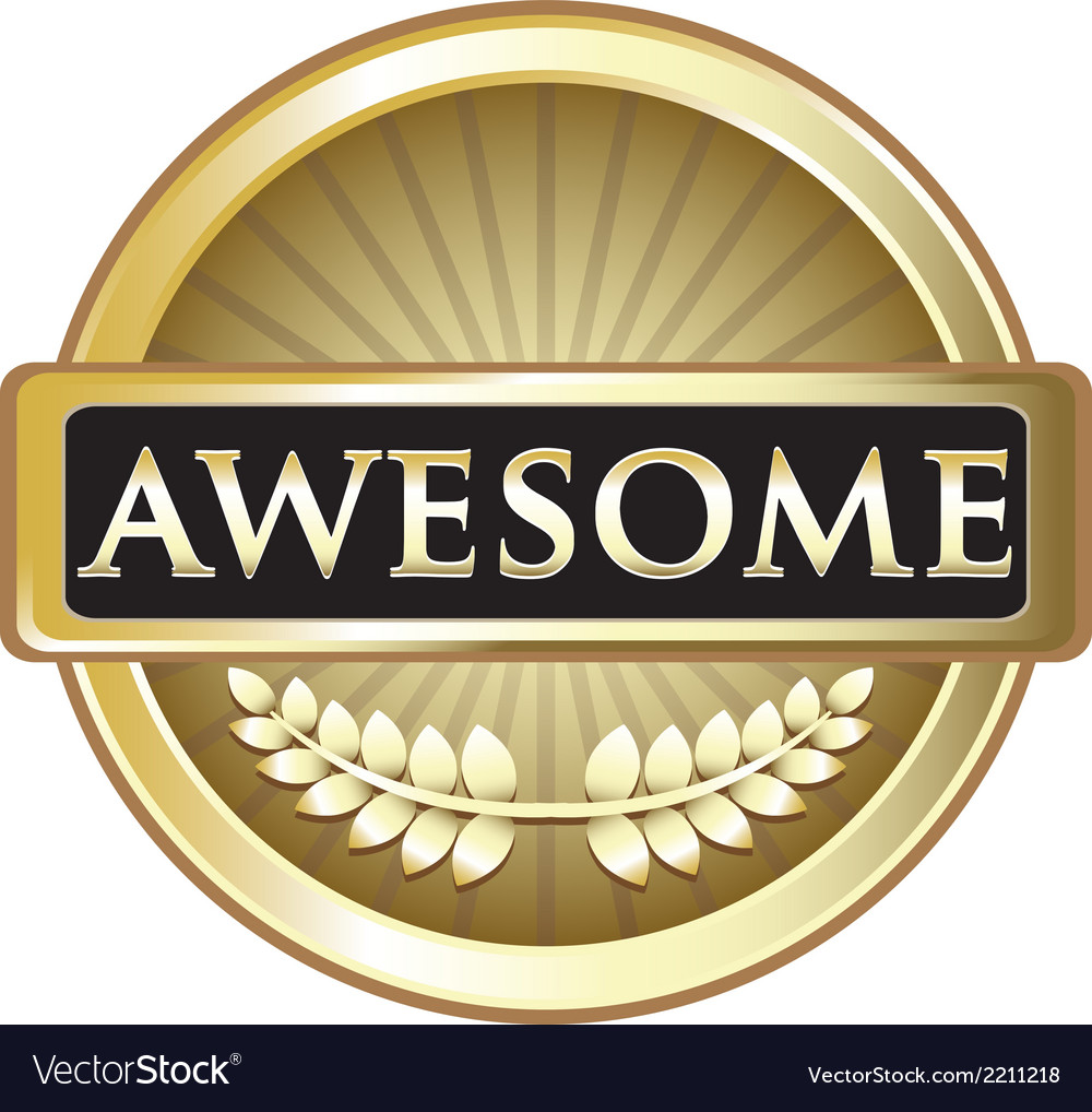 Awesome Gold Label vector image