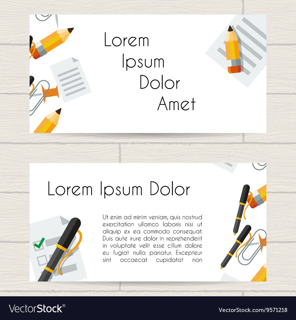 Concept design of business card or booklet with Vector Image