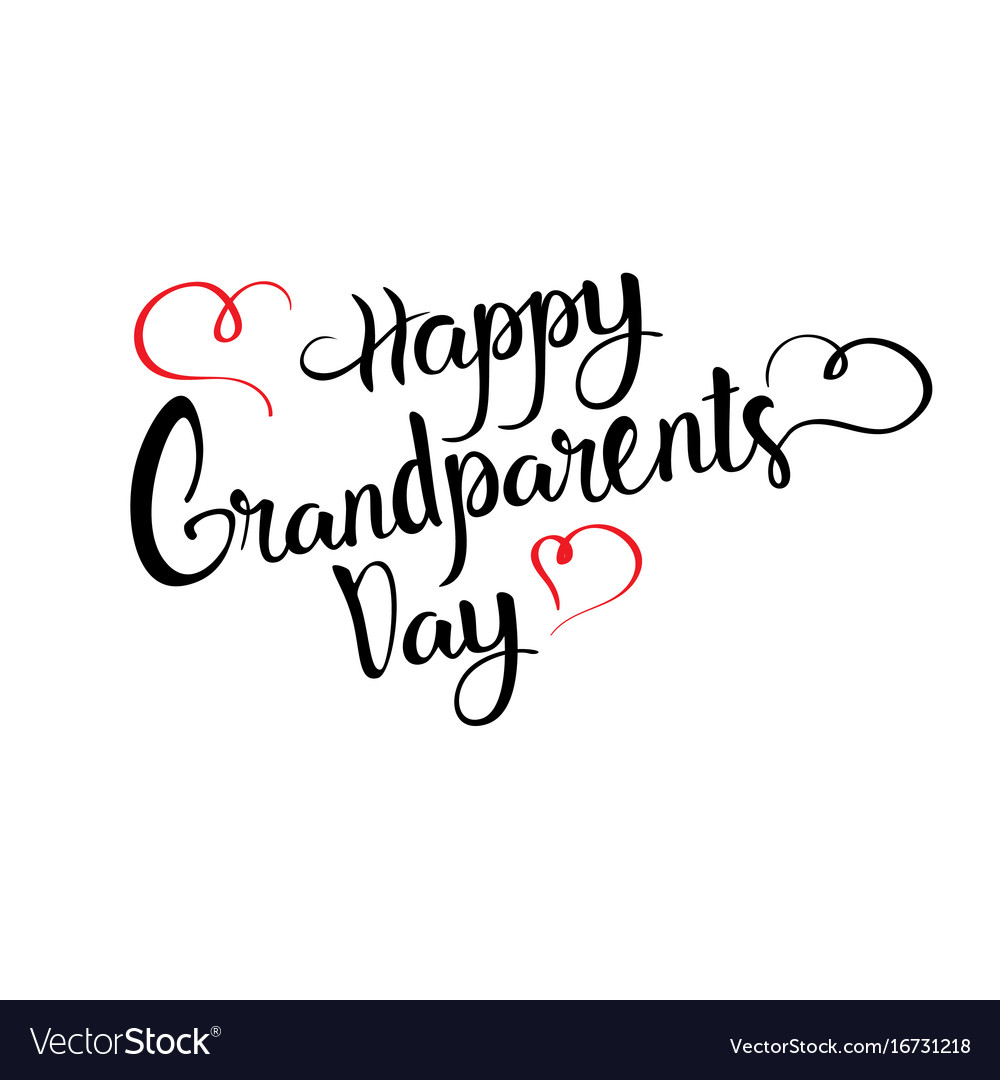 Happy grandparents day greeting card banner text vector image kristyandbryce Choice Image