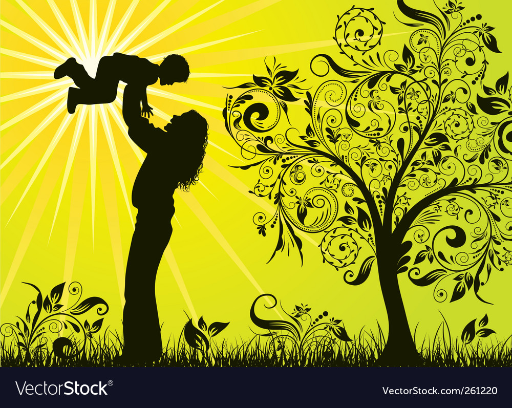 Abstract family background vector image