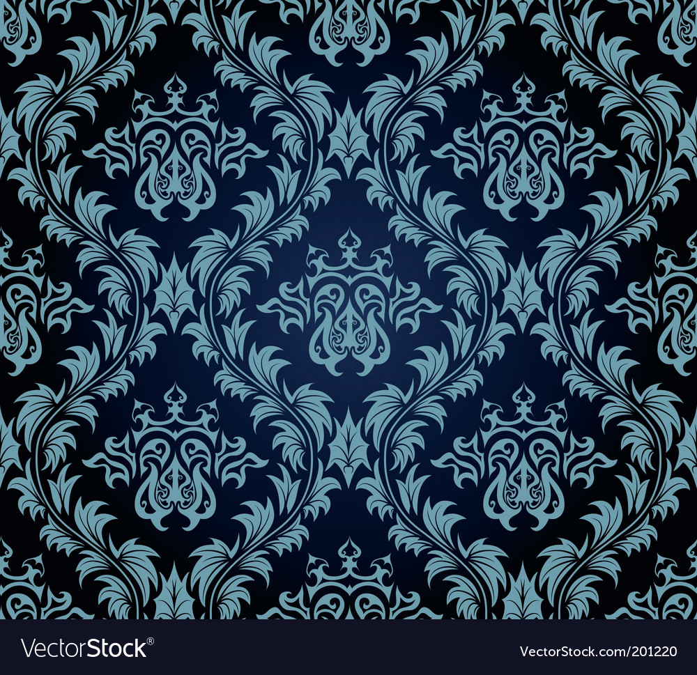 Damask wallpaper pattern Royalty Free Vector Image