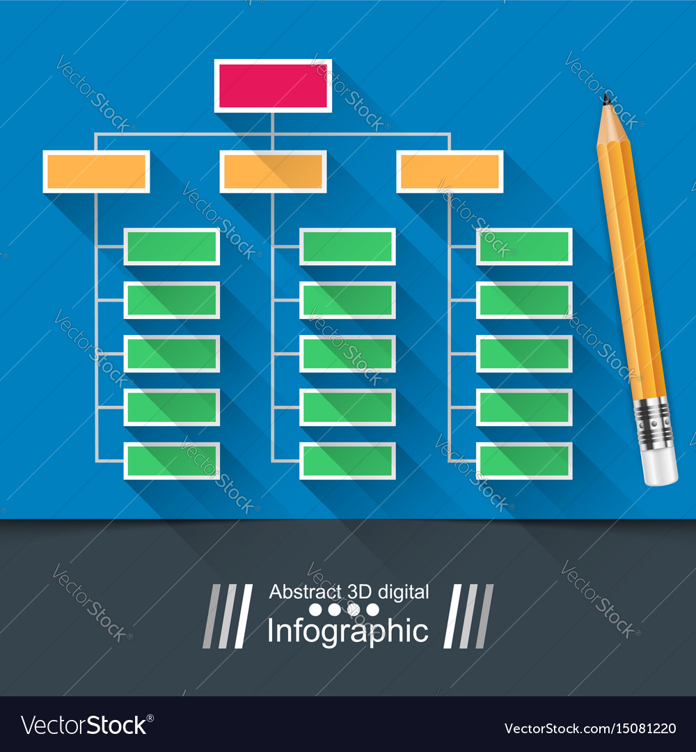 Table infographic education pencil vector image