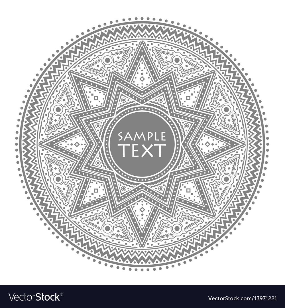 Circle pattern vintage vector image