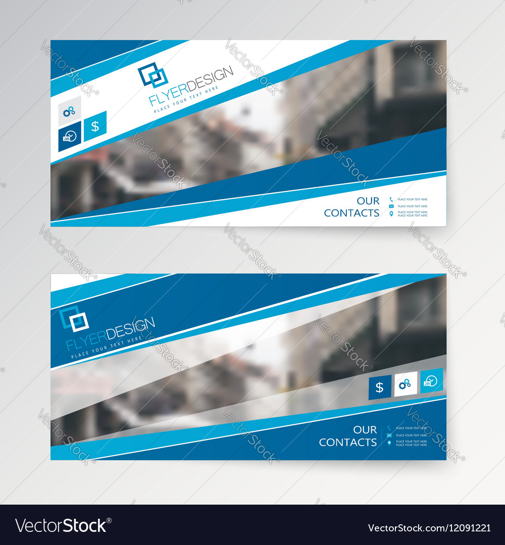 Set Horizontal Abstract Flyer Template With Vector Image - Horizontal brochure template