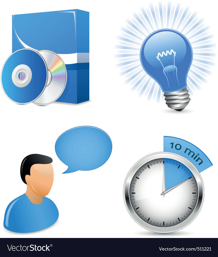 Vector icons for software development company vector image