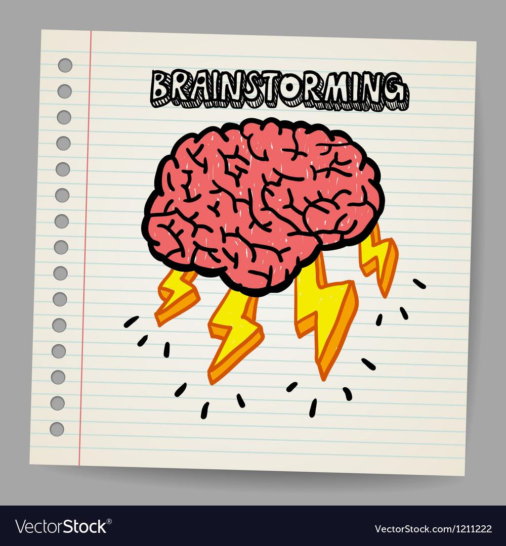 Doodle Brain Storm vector image