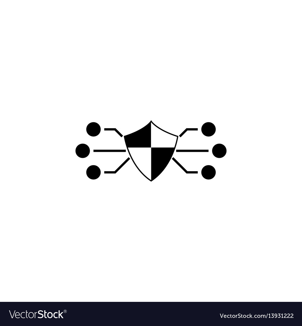Network protection solid icon vector image