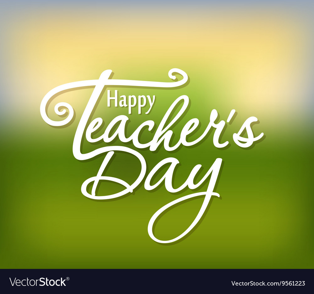 Happy teachers day greeting card teachers day vector image kristyandbryce Choice Image