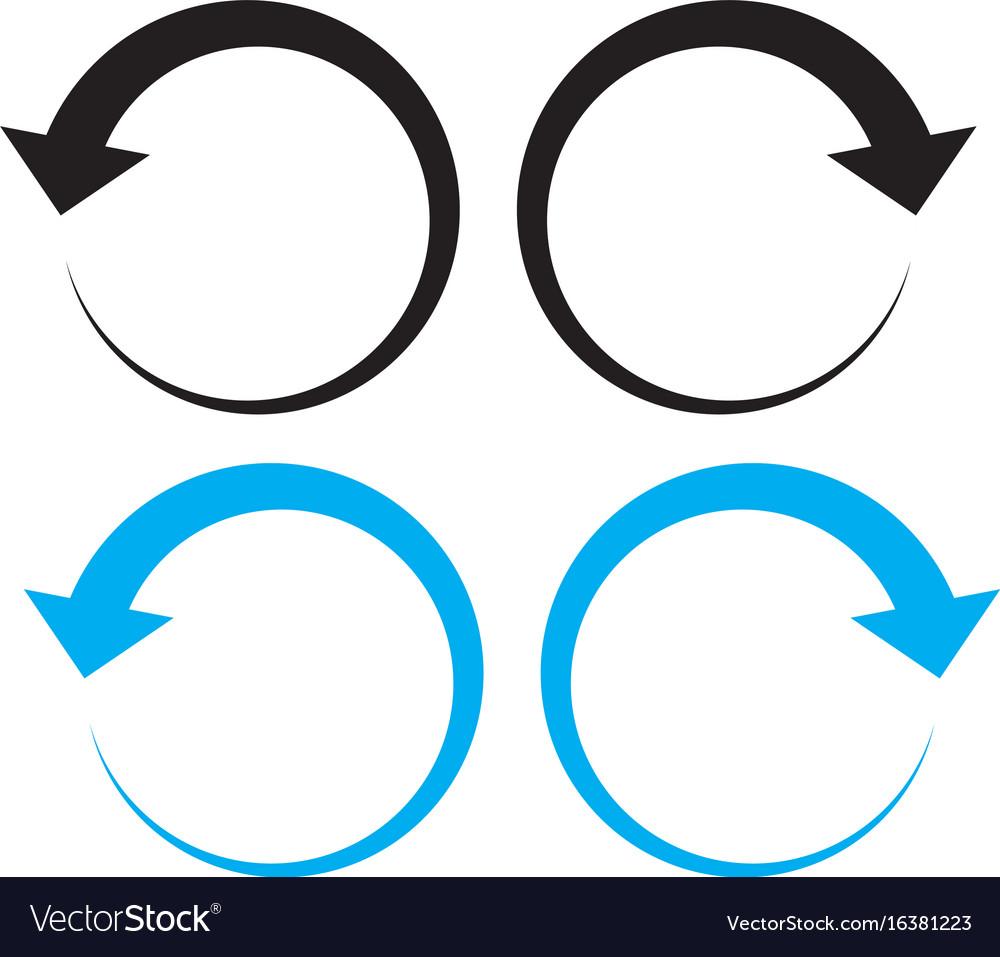 Undo arrow icon on white background redo arrow vector image