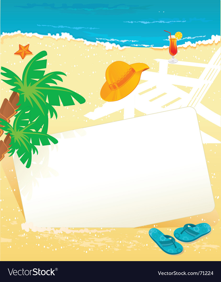Banner summer vector image