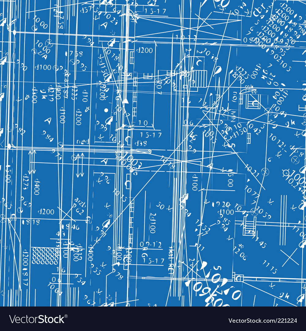 Simulating engineering blueprint royalty free vector image for Drawing blueprints online for free