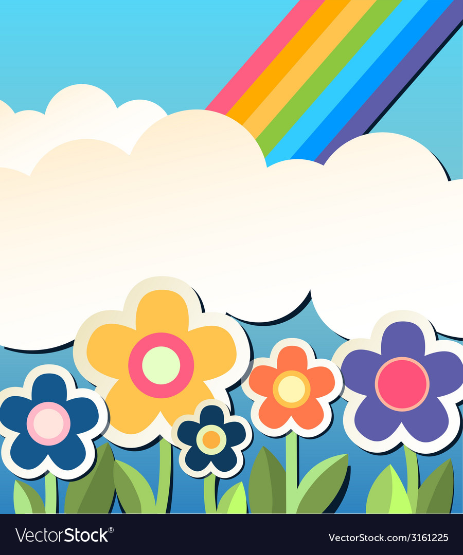 Background with flower vector image