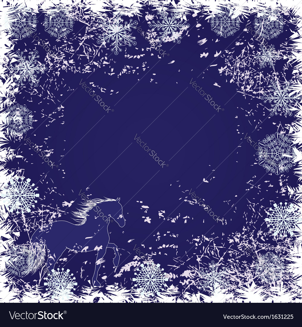 New Year frame with horse vector image