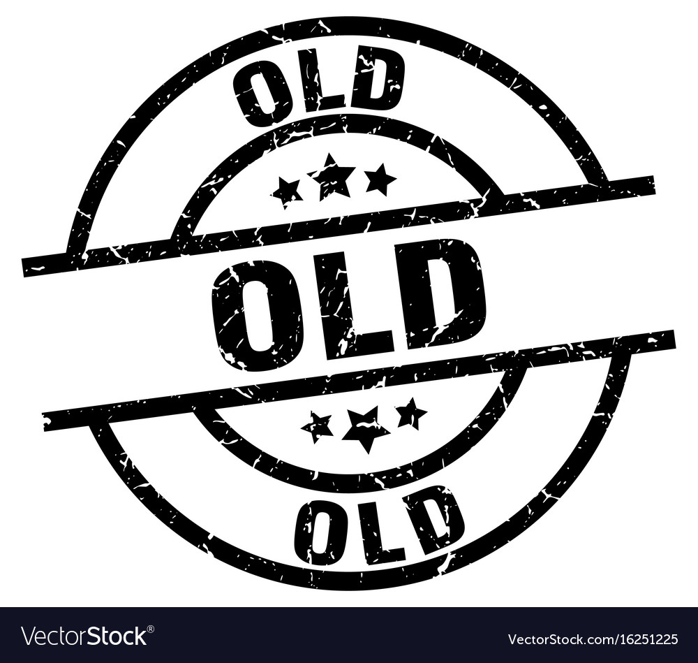 Old round grunge black stamp vector image