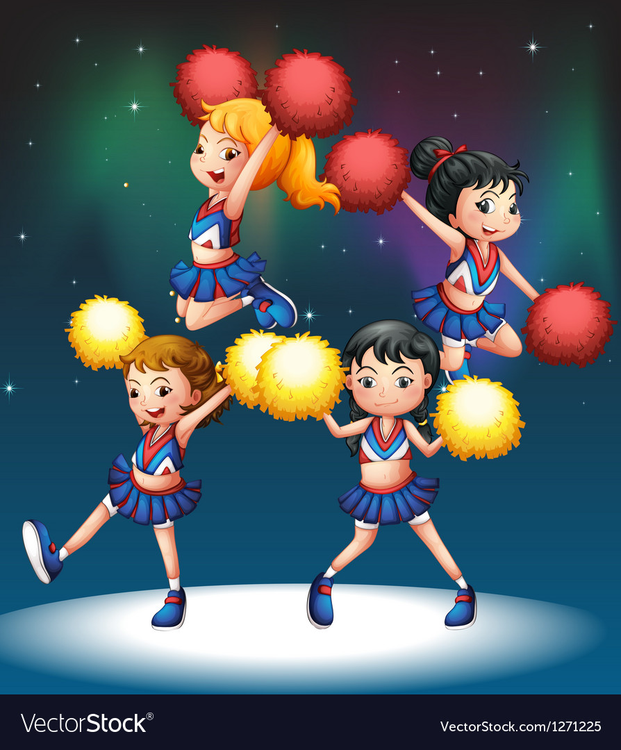 The four cheerdancers vector image