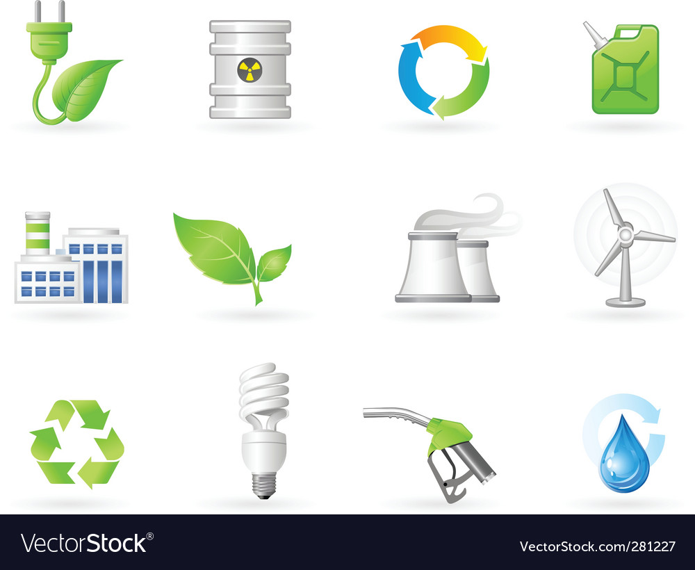Air pollution and green energy Vector Image