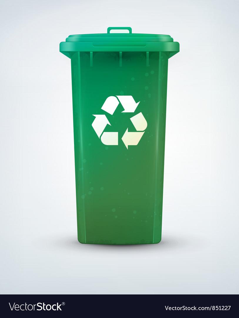 Recycle bin vector image