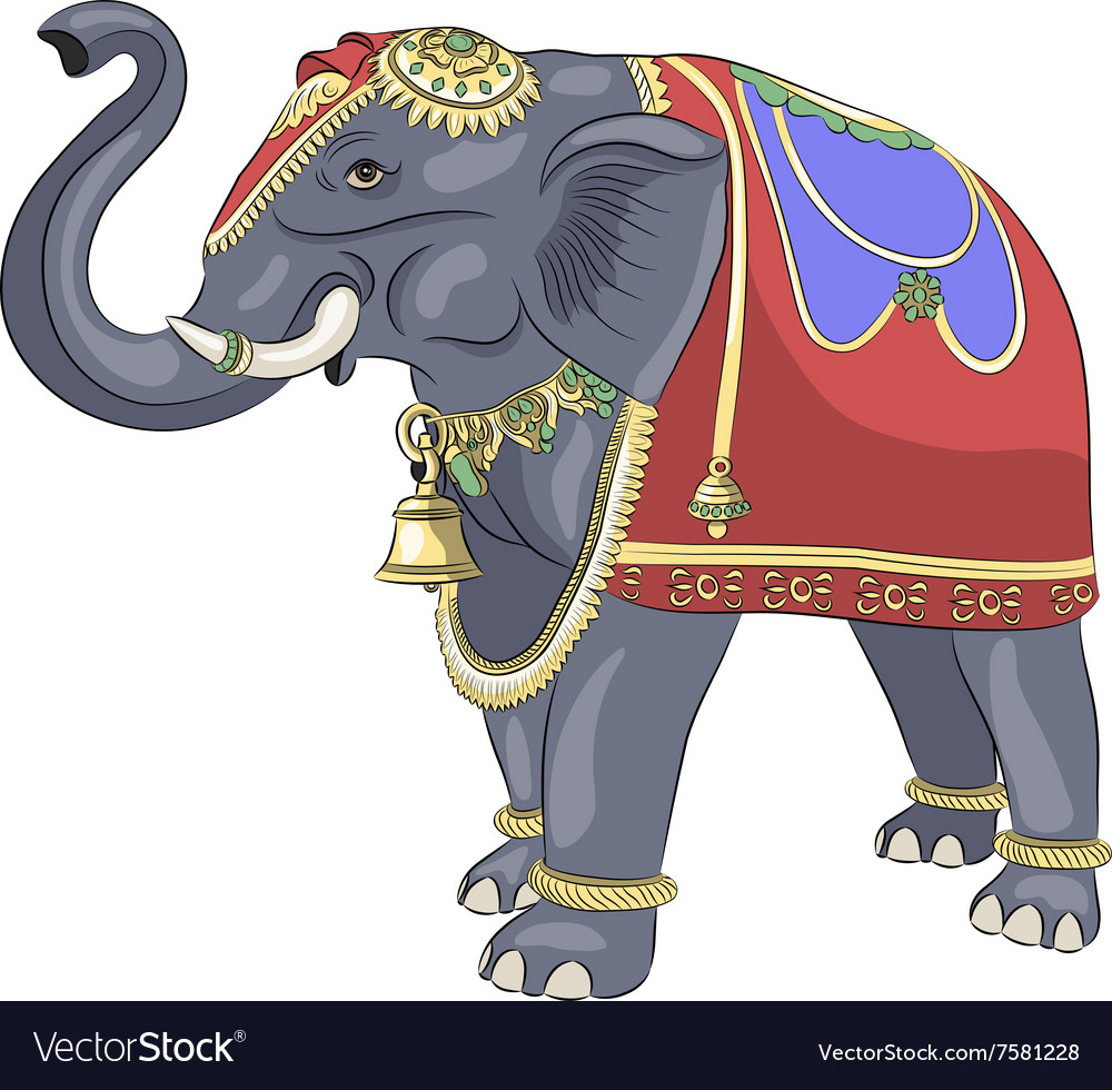 Decorated Indian elephant Royalty Free Vector Image