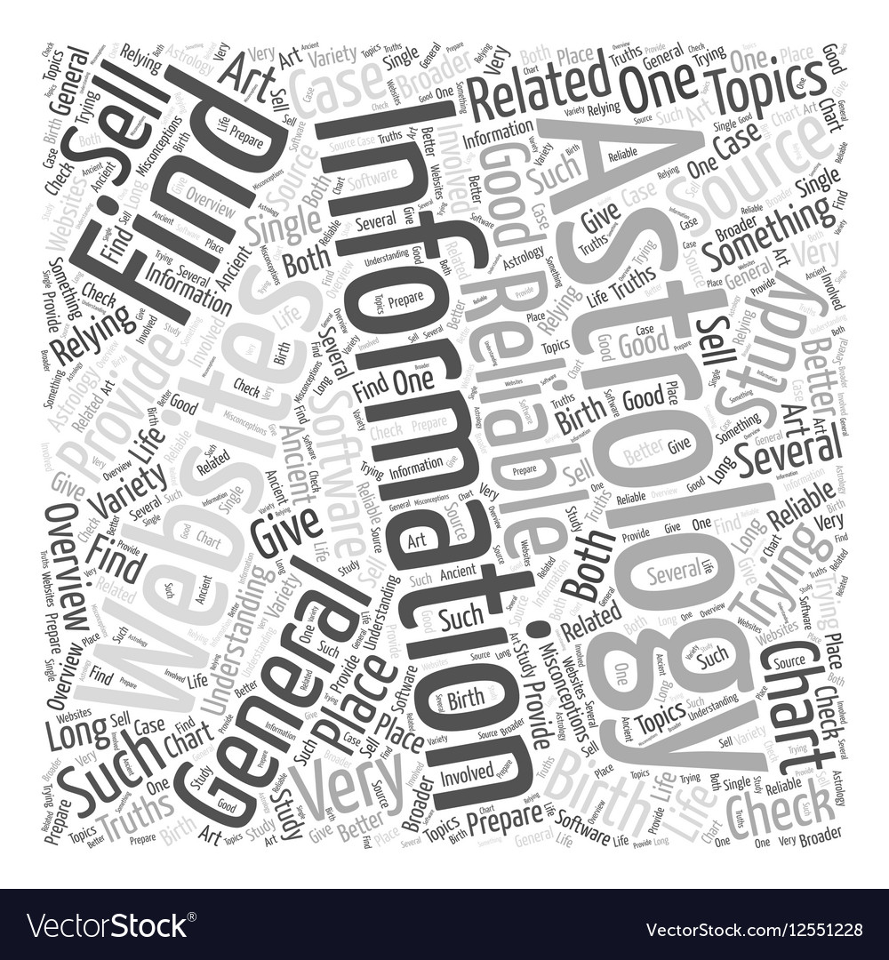 Information about astrology Word Cloud Concept vector image