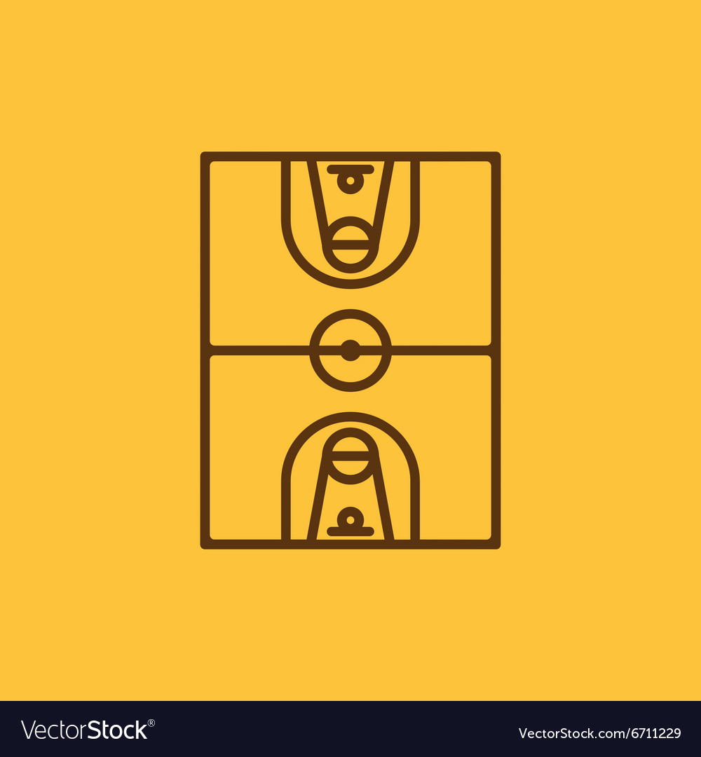 The basketball icon Basketball symbol Flat vector image