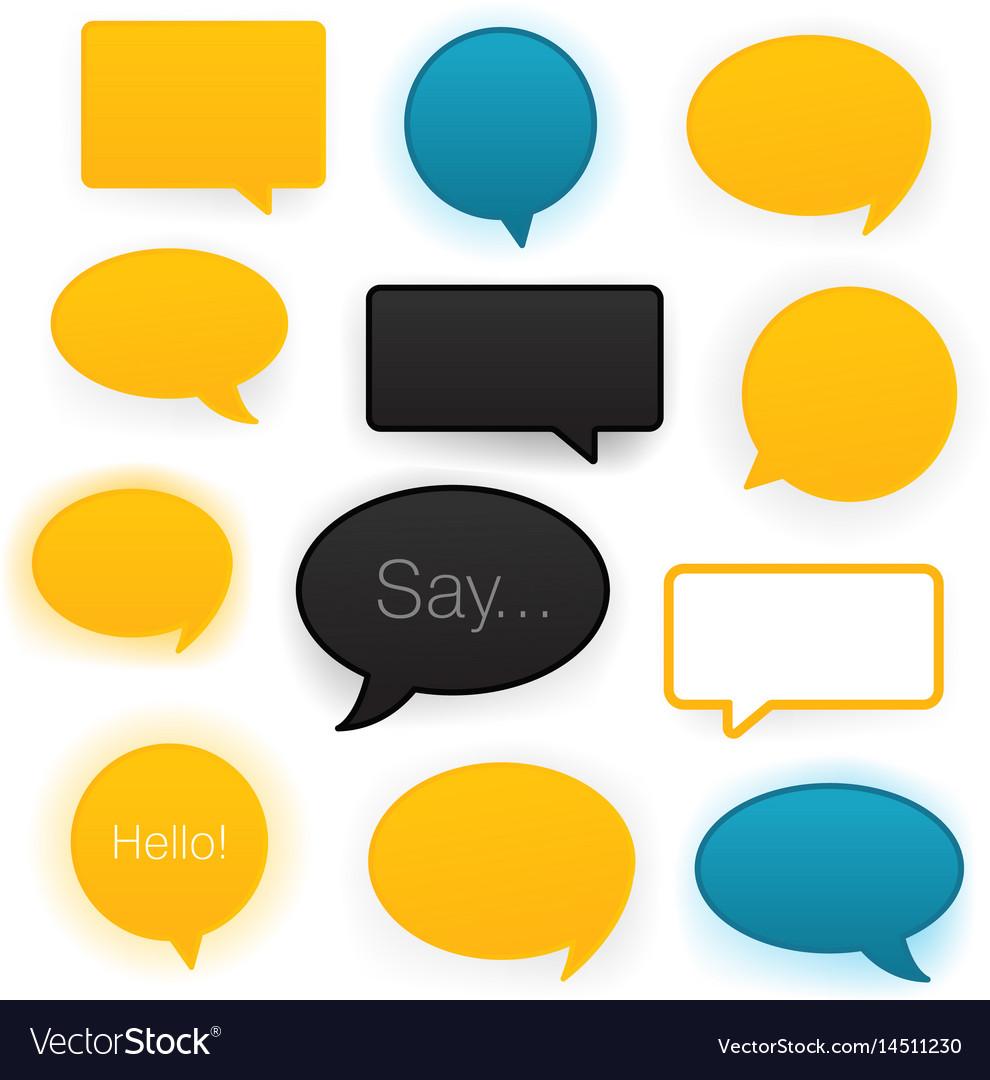 Comic speech bubbles icon set vector image