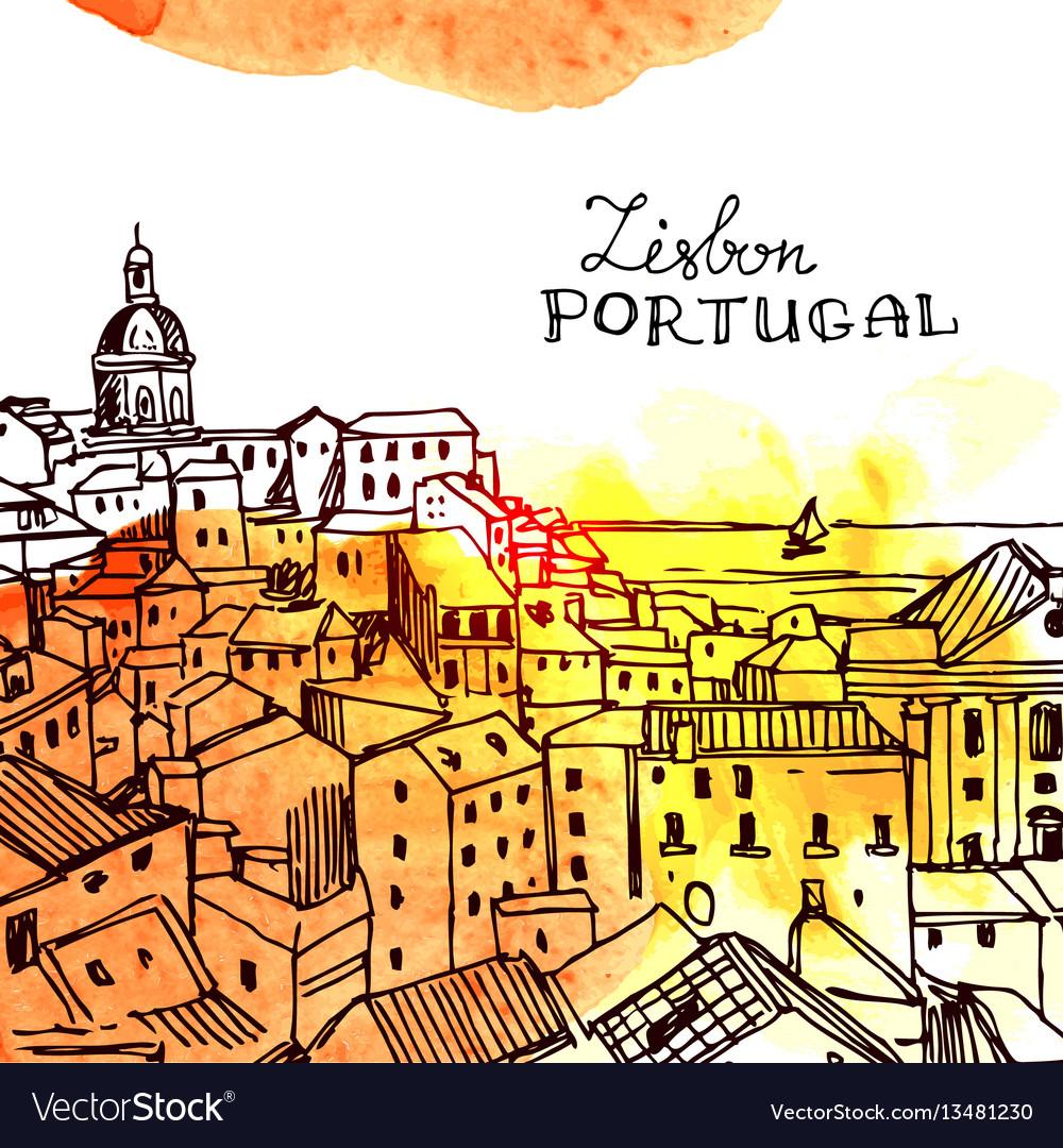Lisbon vector image