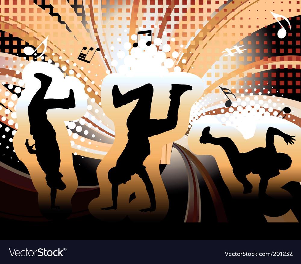 Dancer vector image