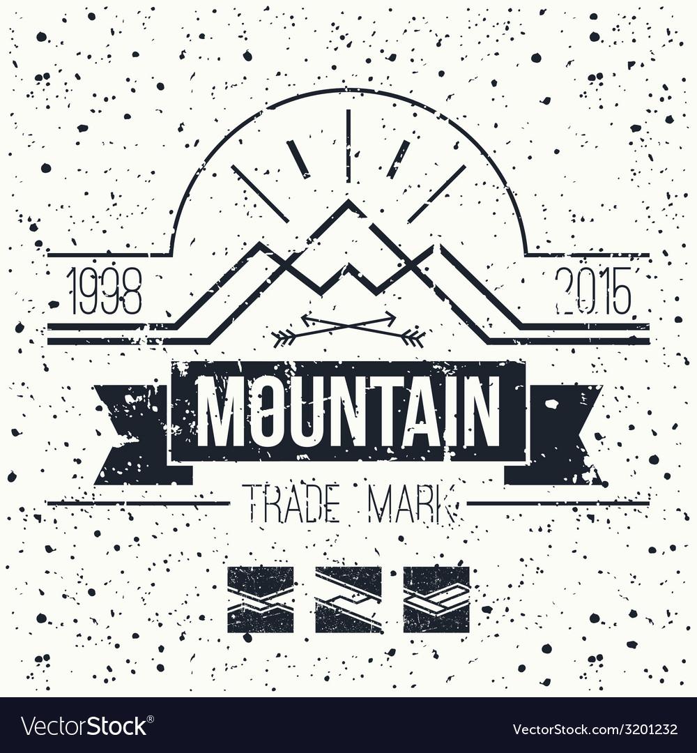 Mountain retro emblem vector image