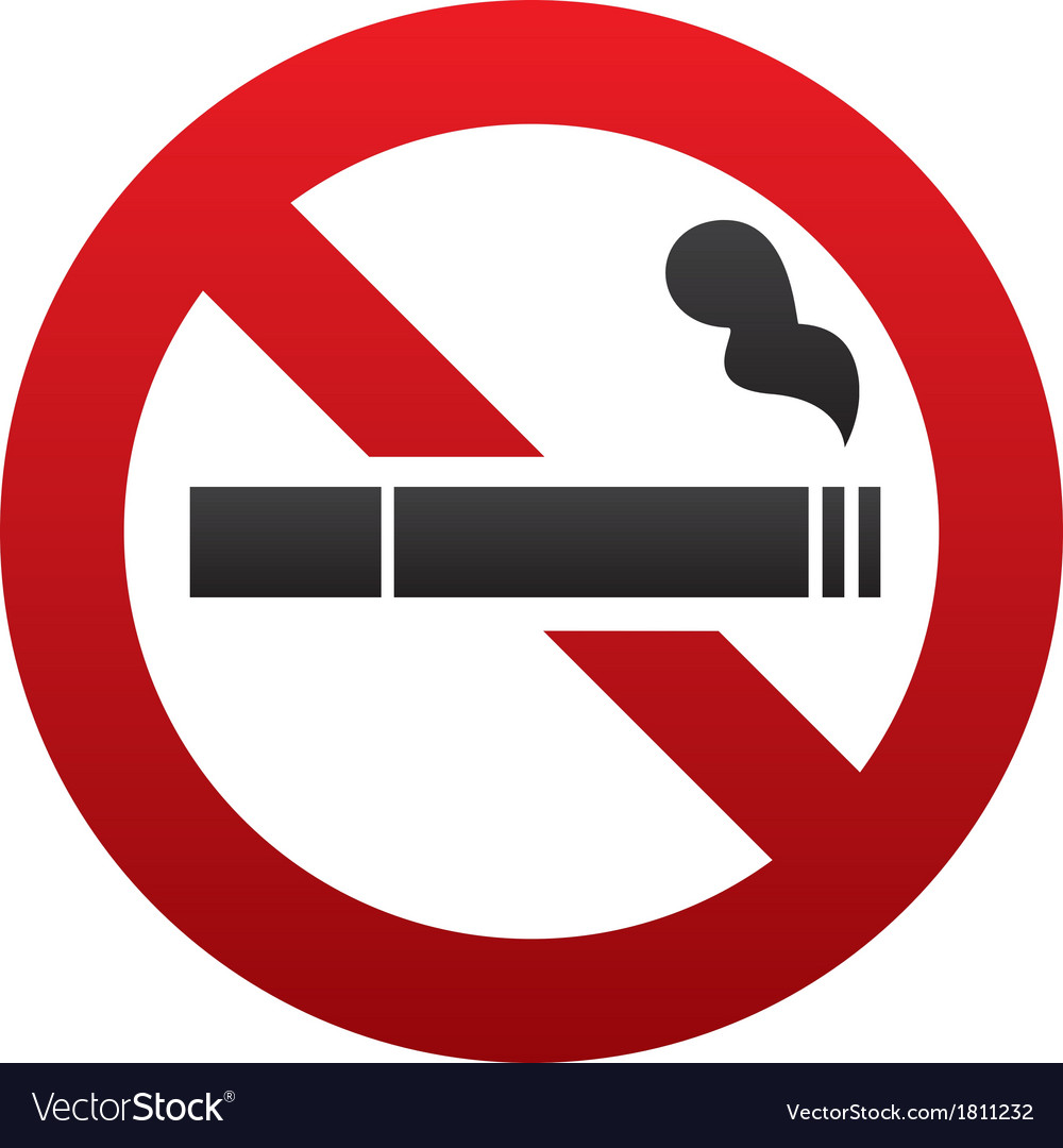 No smoking sign no smoke icon stop smoking vector image buycottarizona Images