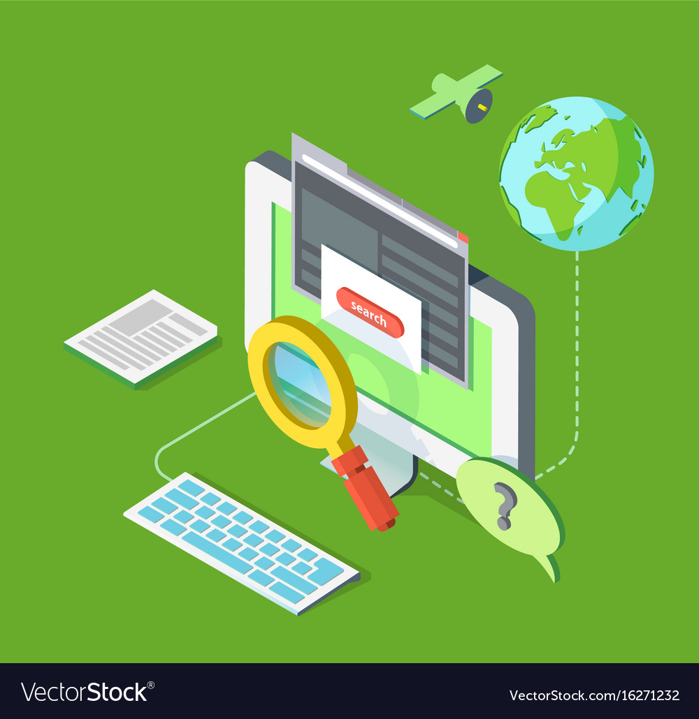 Searching on web vector image
