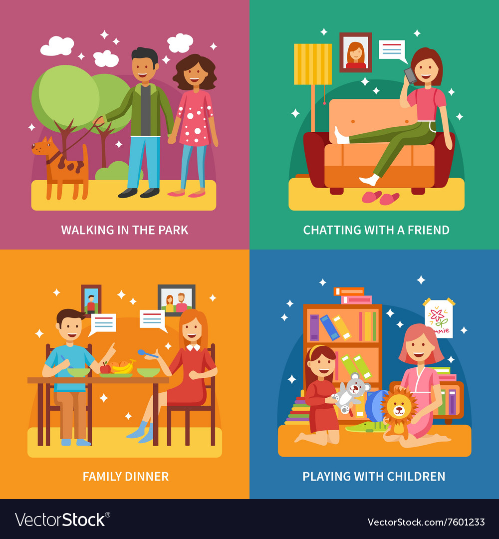 Family Concept Set vector image