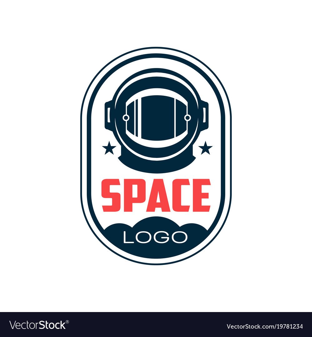 Logo with astronaut s protective helmet in outline