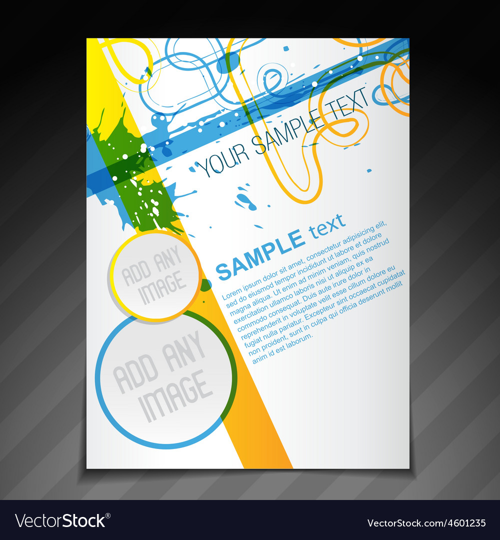 Beautiful Brochure Template Royalty Free Vector Image - Beautiful brochure templates