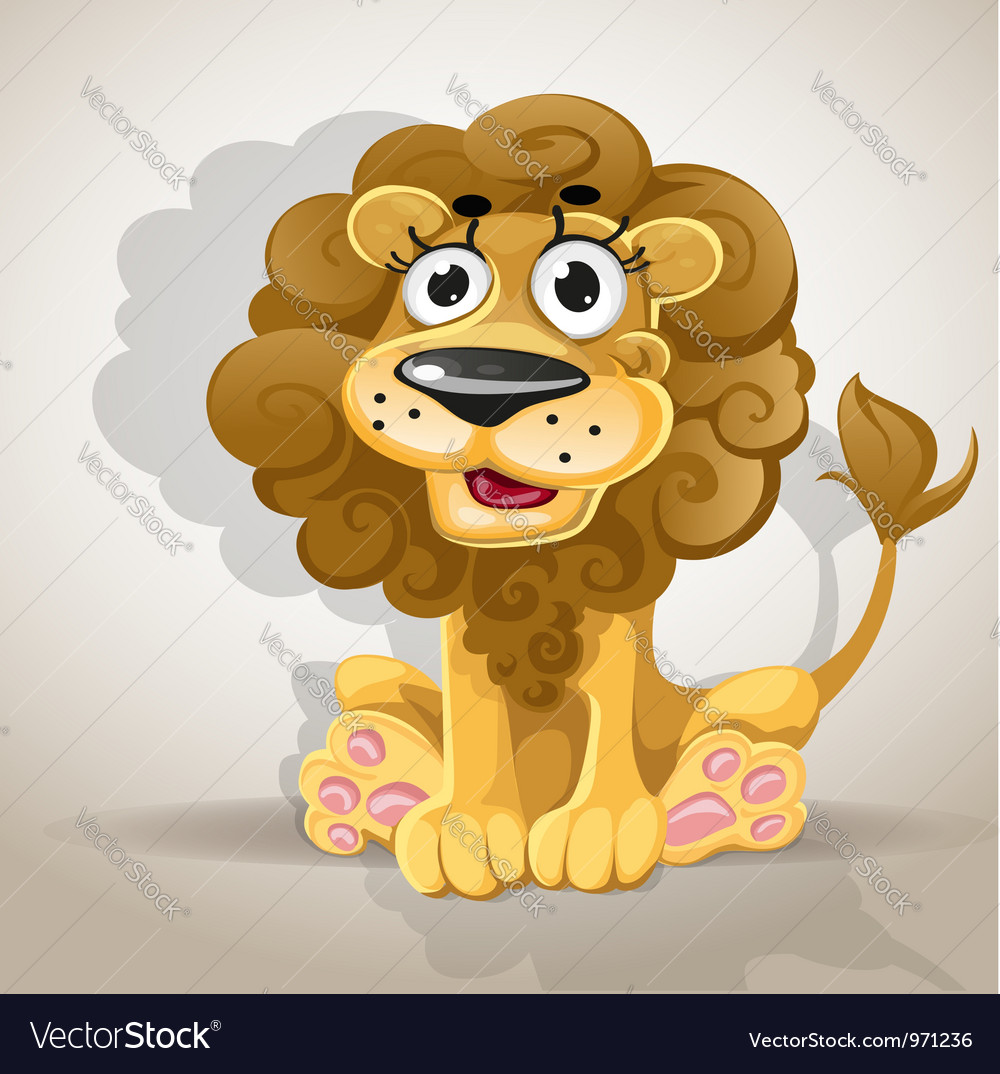 Lion Cartoon Character on Cute Cartoon Character Lion Vector 971236 By Yadviga