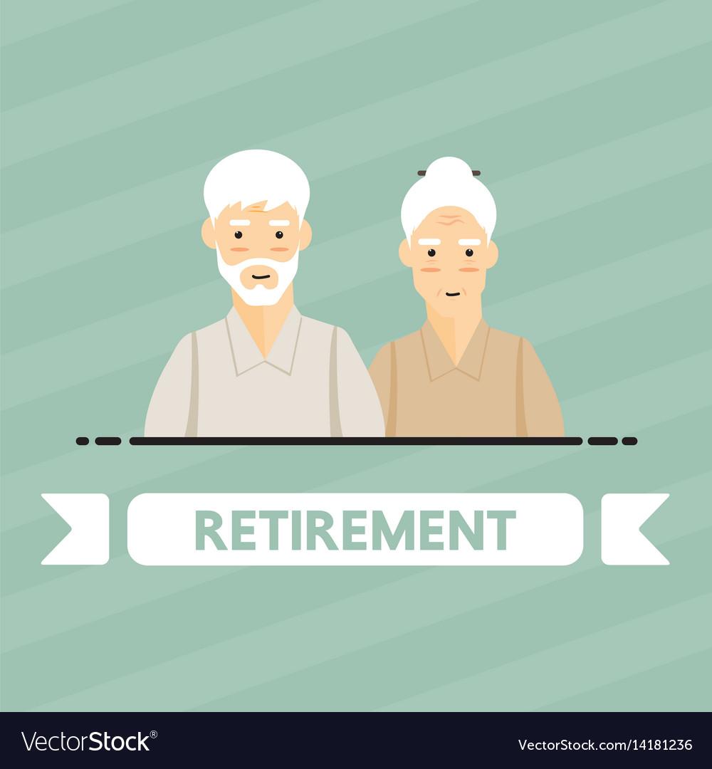Retirement people vector image
