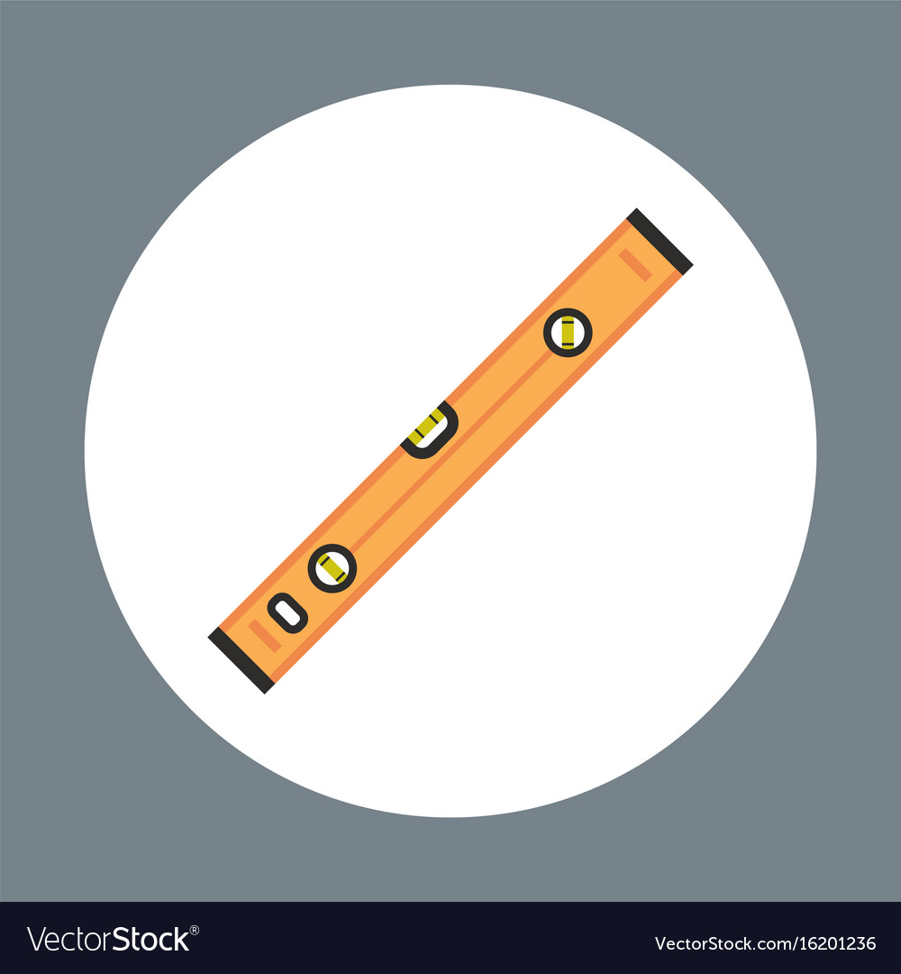 Ruler icon working hand tool equipment concept vector image