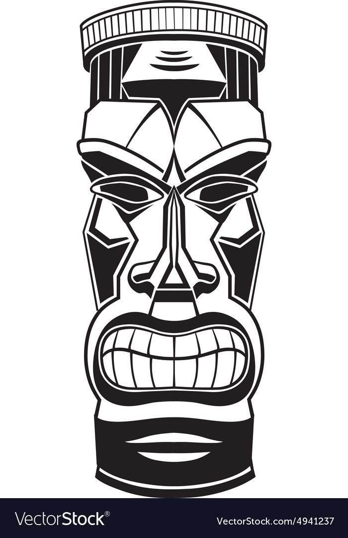 hawiian totem tiki royalty free vector image vectorstock rh vectorstock com tiki vector adobe illustrator tiki vector art