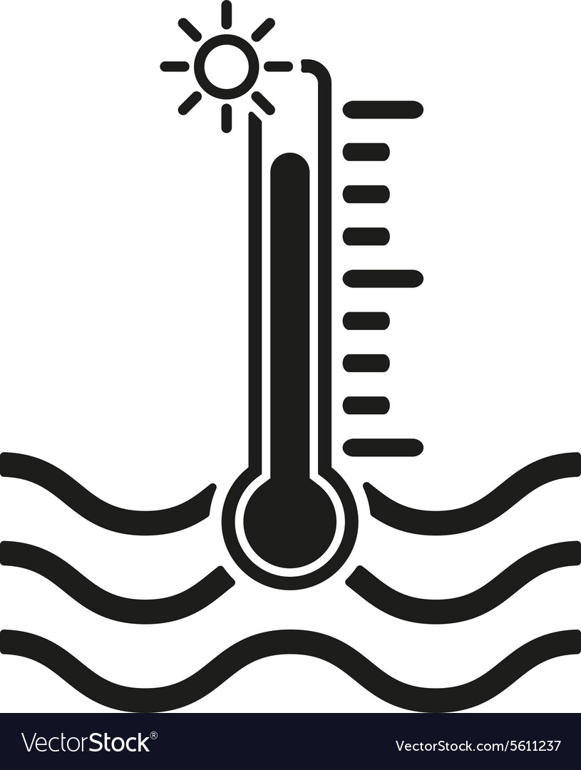 The warm water temperature icon hot liquid symbol vector image biocorpaavc Choice Image