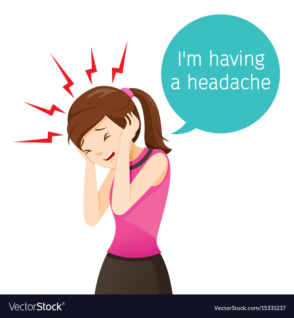 Working woman terrible headache vector image