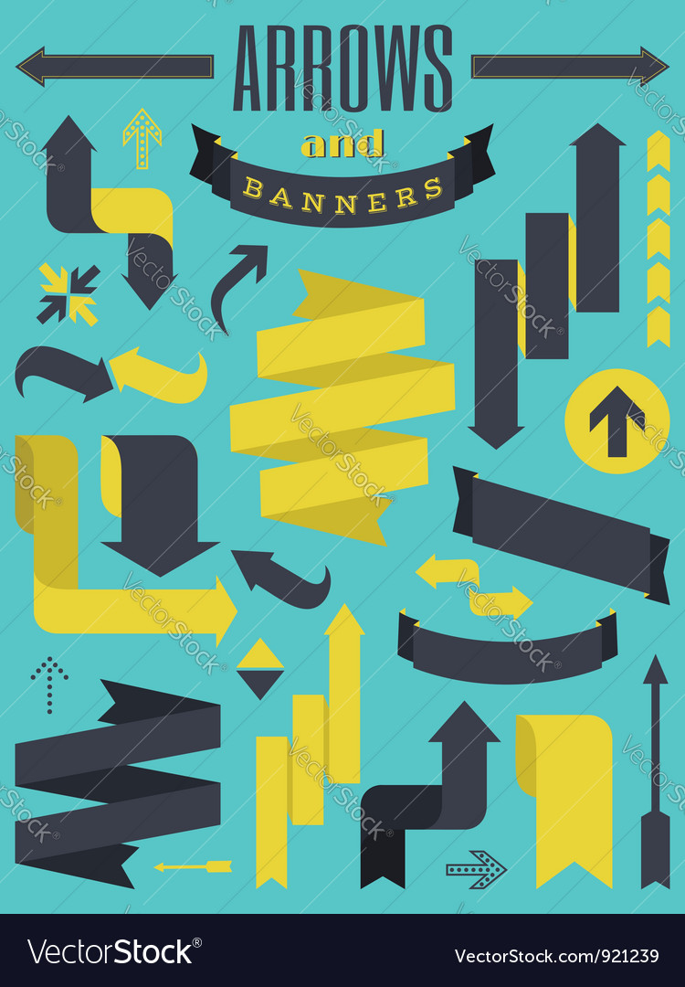 Arrows and banners vector image