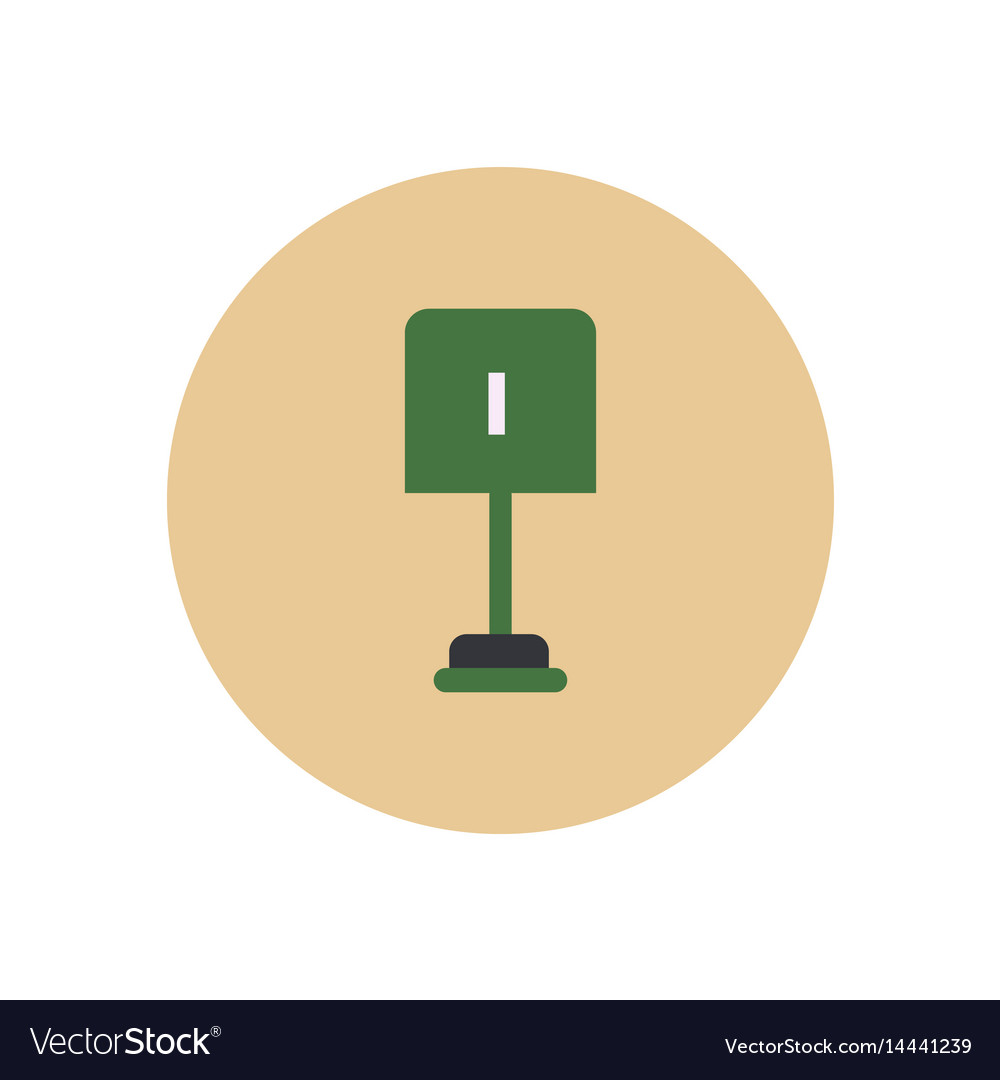 Stylish icon in color circle small shovel