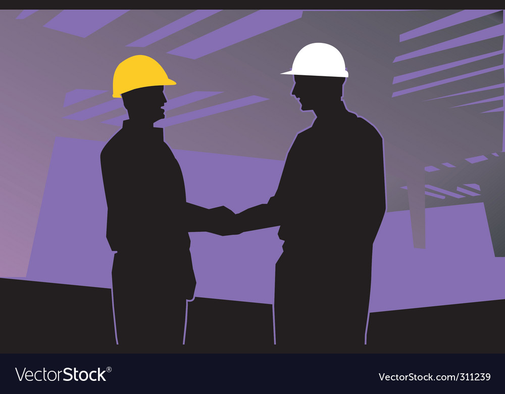 Two engineers vector image