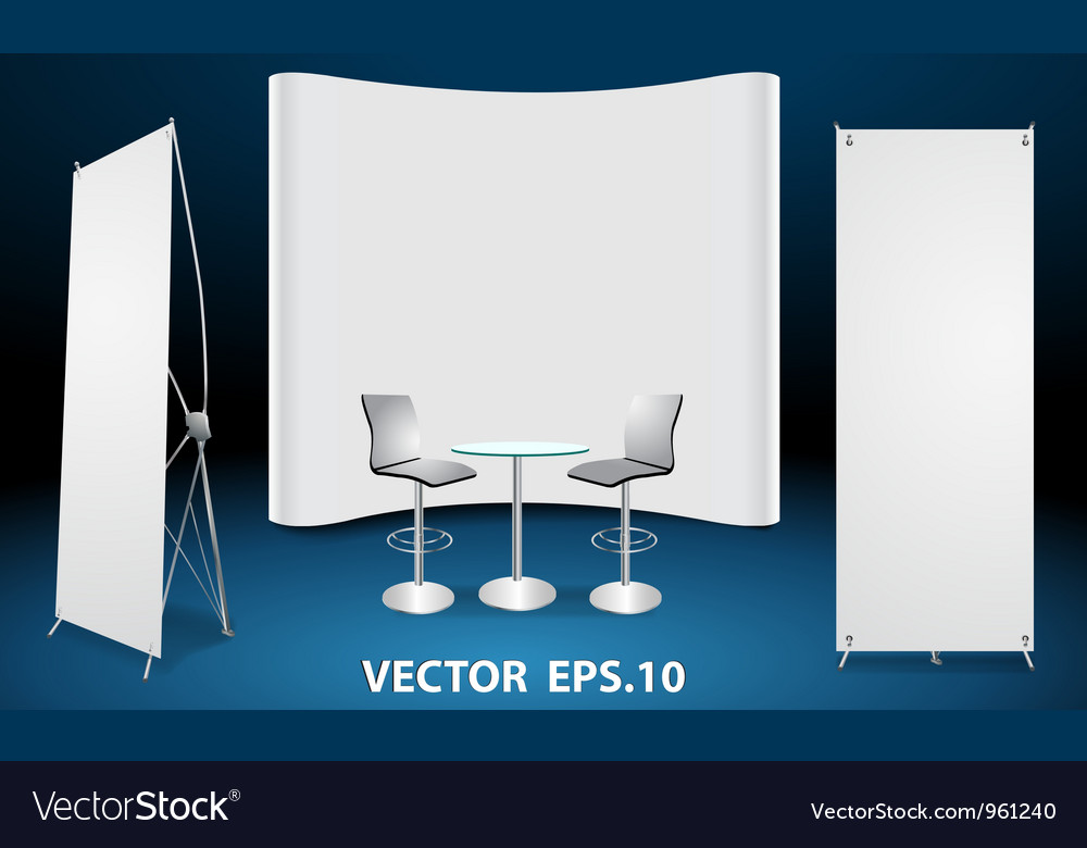 Exhibition Booth Vector Free Download : Blank trade show booth display royalty free vector image