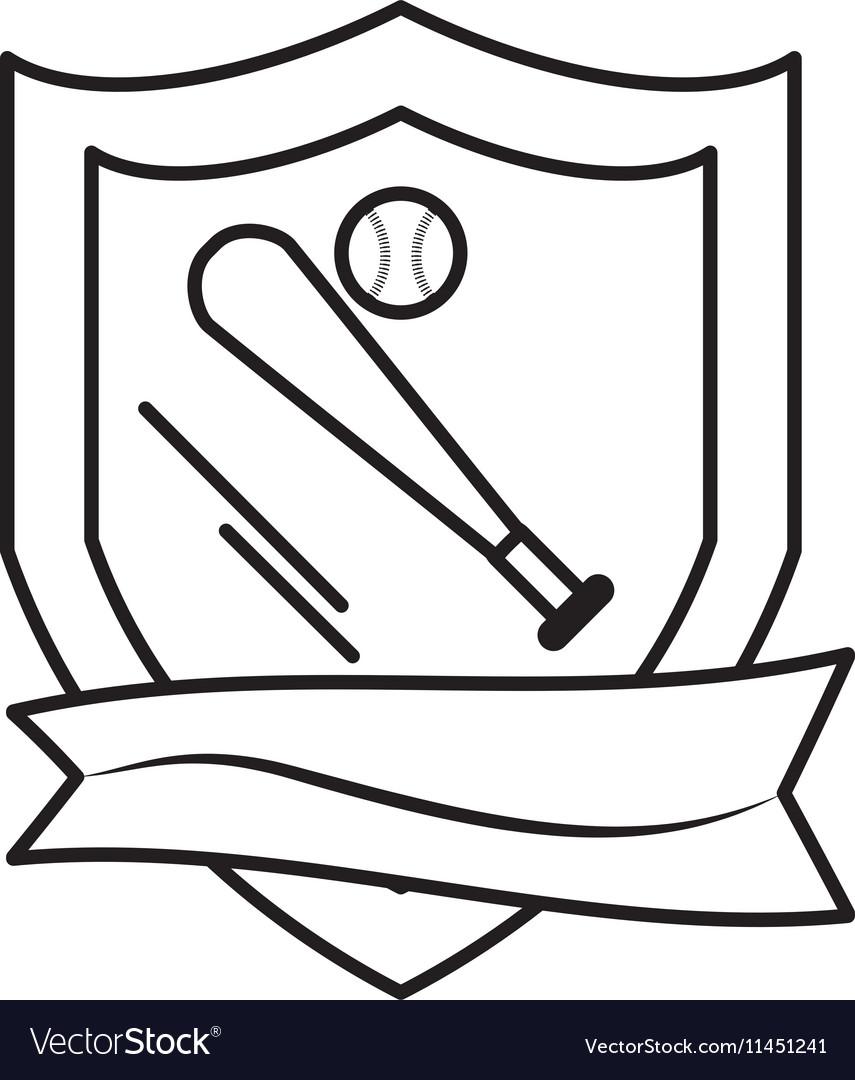 Baseball bat isolated icon vector image