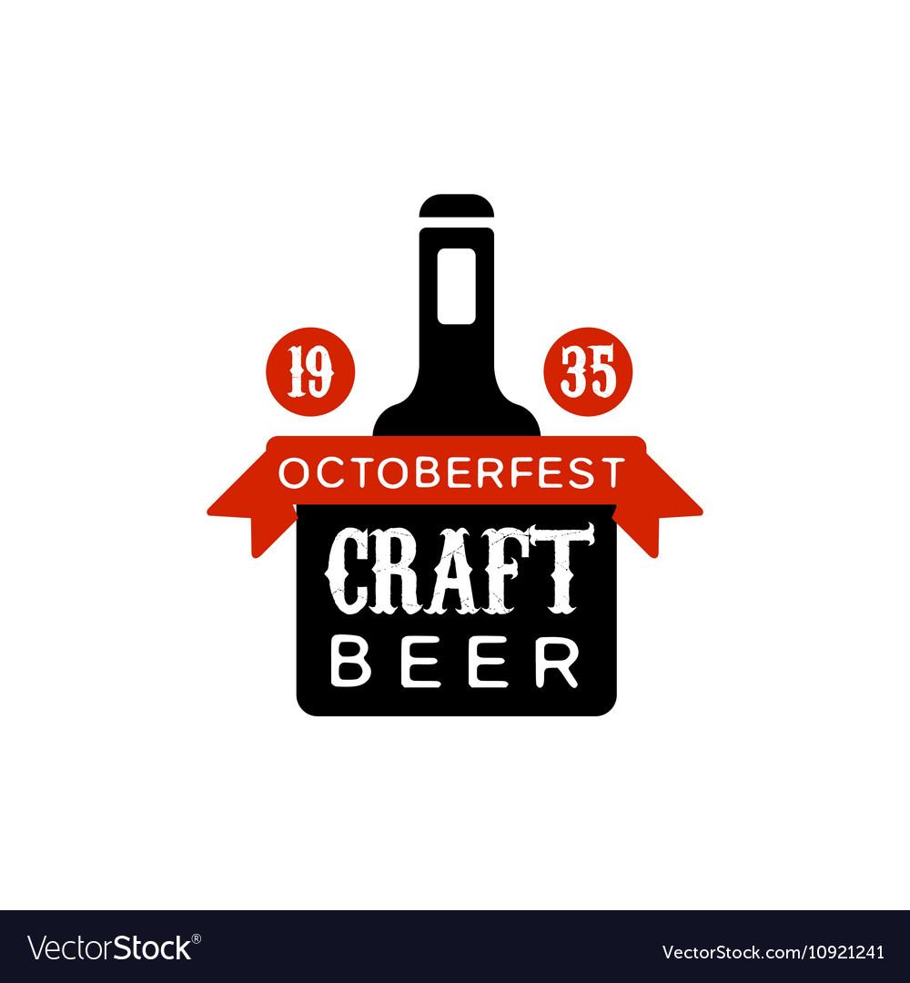 Oktoberfest Craft Beer Logo Design Template vector image