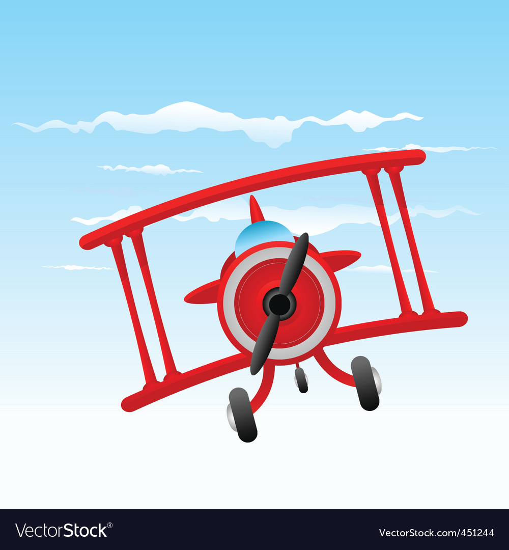 Cartoon old plane vector image