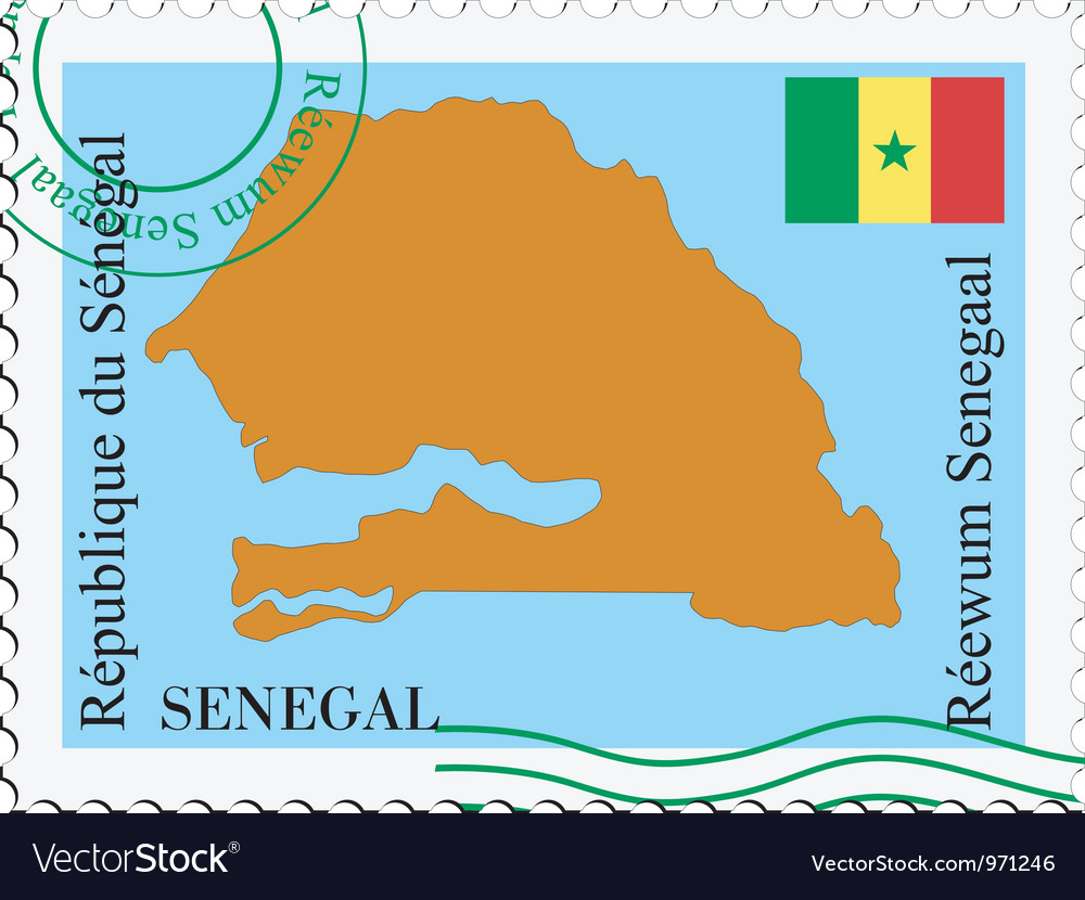Mail to-from Senegal vector image