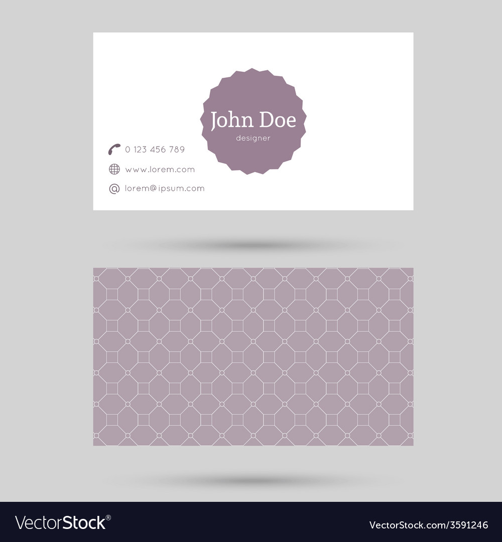 Trendy business card template Royalty Free Vector Image